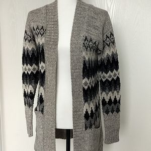 Long Open Front Knit Cardigan * Size XS